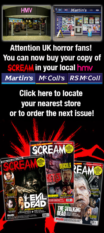 Scream Horror Magazine Now On Sale at HMV!