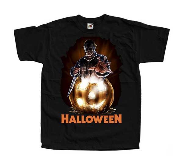 HALLOWEEN MICHAEL MYERS Inspired Black T-Shirt (Design #4)