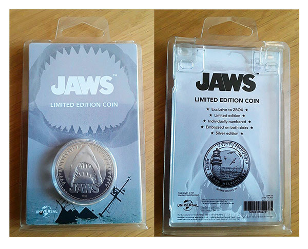 JAWS Limited Edition Coin: Silver Variant
