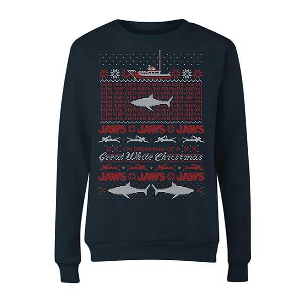 JAWS Ladies Navy Christmas Jumper