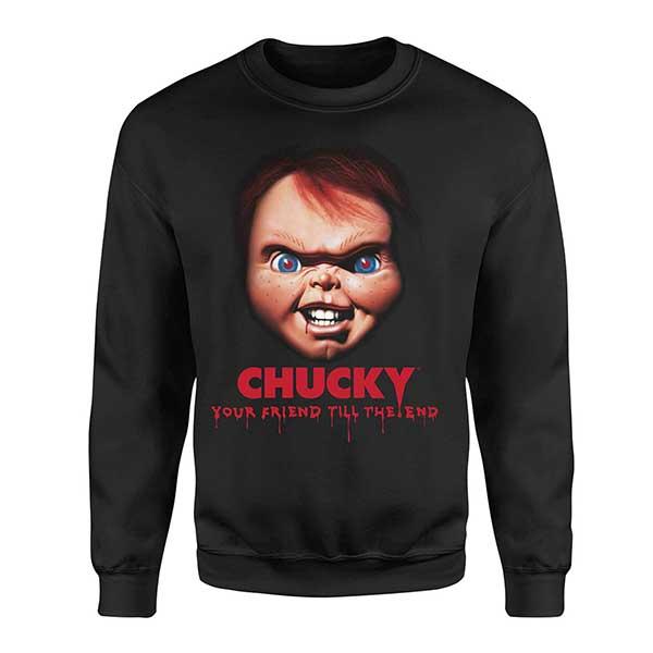 Chucky Friends Till The End Unisex Black Sweatshirt