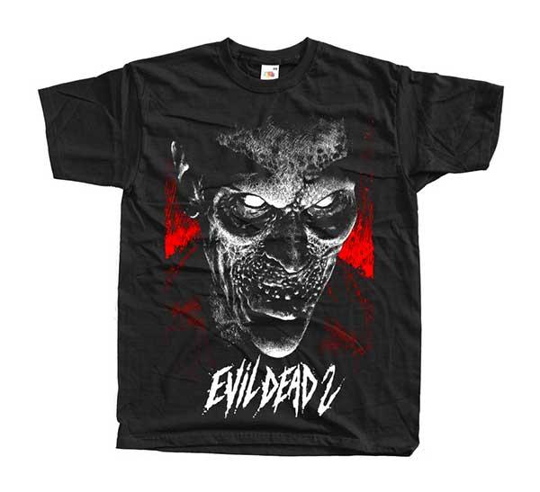 EVIL DEAD 2 Bruce Campbell Demon Face Black T-Shirt