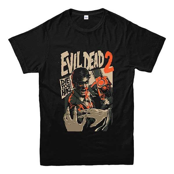 Evil Dead 2 Unisex Chainsaw Horror T-Shirt