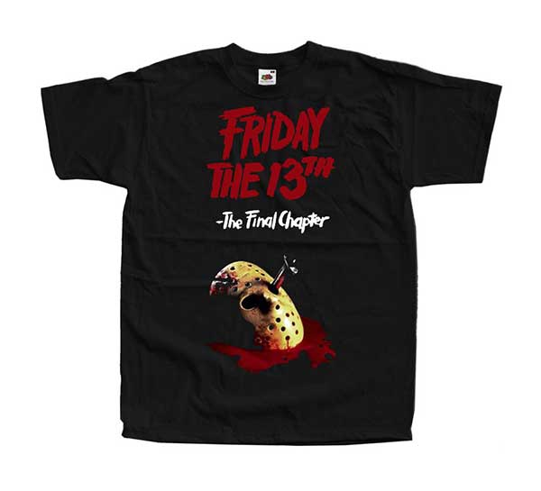 FRIDAY THE 13TH: THE FINAL CHAPTER Logo Inspired Black T-Shirt