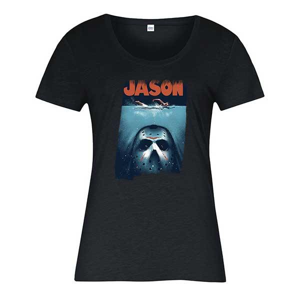 Jason Voorhees Spoof Jaws Ladies T-Shirt
