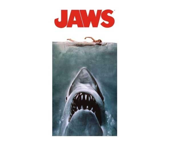 JAWS Poster Bath Towel