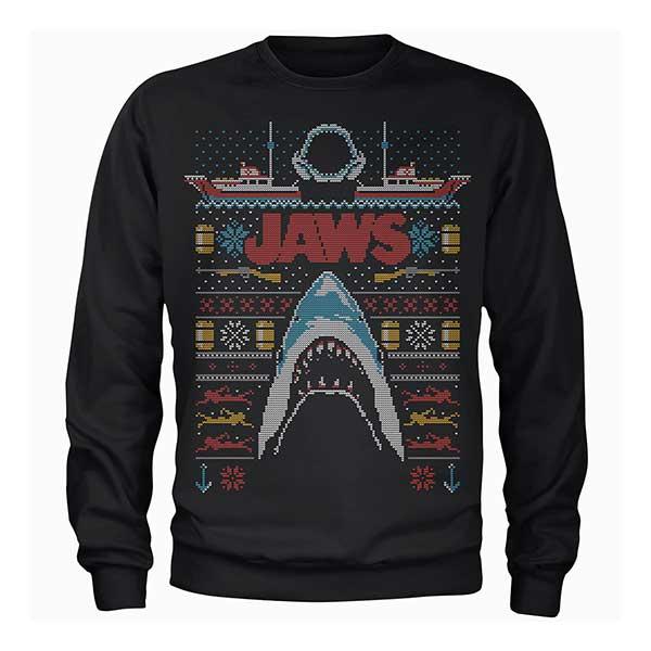 JAWS Men's Black Christmas Jumper