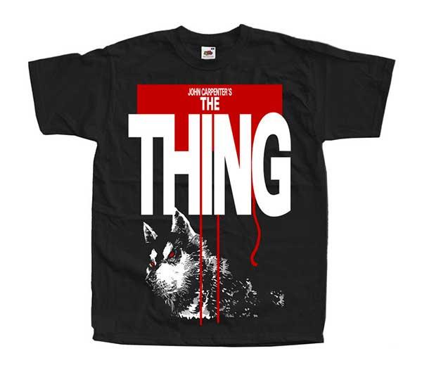THE THING (DOG) Black T-Shirt