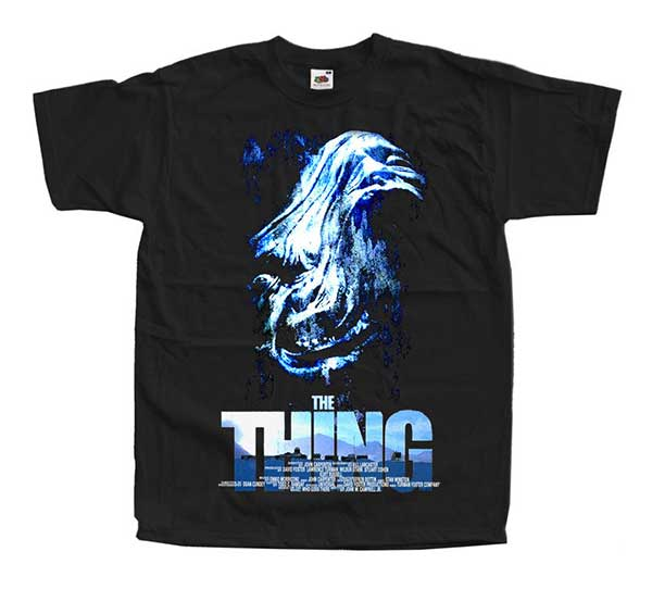 THE THING Face Inspired Black T-Shirt