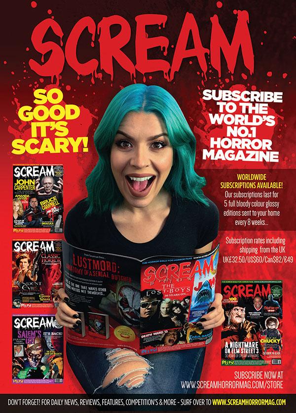 Scream Horror Magazine Subscriptions