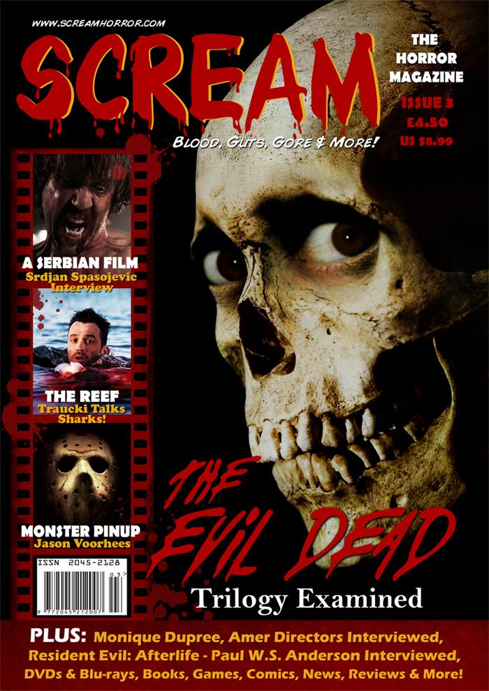 scream  the horror magazine  issue three